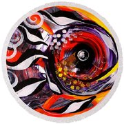 Fire Fish Four And A Half Round Beach Towel