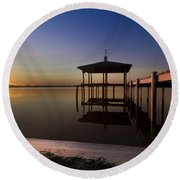 Fire Lake Round Beach Towel