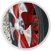 Fire Truck Spinner Round Beach Towel