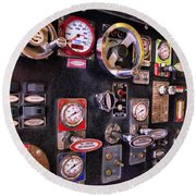 Fireman - Discharge Panel Round Beach Towel