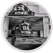 Fireman - Fire Helmets Round Beach Towel