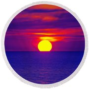 Firesky-blue  Round Beach Towel