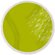 Firework Abstract Lv Round Beach Towel by Michelle Calkins