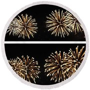 Firework Lifecycle 1 Round Beach Towel