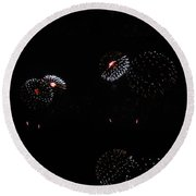 Firework Lifecycle 2 Round Beach Towel