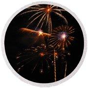 Fireworks 1580 Round Beach Towel