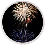 Fireworks  Abound Round Beach Towel