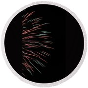 Fireworks Abstract 1 Round Beach Towel