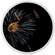 Fireworks Fun 1 Round Beach Towel