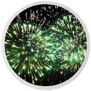 Fireworks Number 4 Round Beach Towel