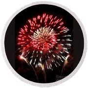 Fireworks Number 6 Round Beach Towel