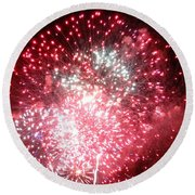 Fireworks Number 7 Round Beach Towel