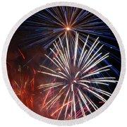 Fireworks Rectangle Round Beach Towel