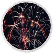 Fireworks Two Round Beach Towel