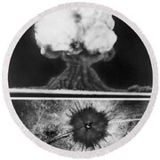 First Atomic Bomb, 1945 Round Beach Towel