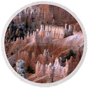 First Light In Bryce Canyon Round Beach Towel