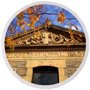 First National Bank Round Beach Towel