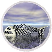 Fish Bones Round Beach Towel