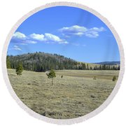 Fish Creek Valley II Round Beach Towel