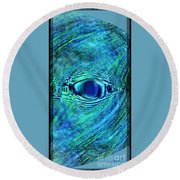 Fish Eye Round Beach Towel