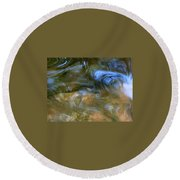 Fish In Rippling Water Round Beach Towel
