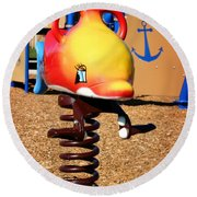 Fish Jumper Round Beach Towel