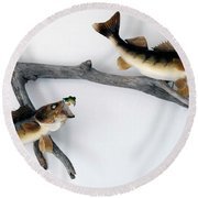 Fish Mount Set 06 A Round Beach Towel