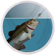 Fish Mount Set 13 D Round Beach Towel