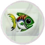 Fish Study 2 Round Beach Towel