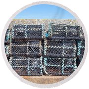 Fishing Baskets Round Beach Towel