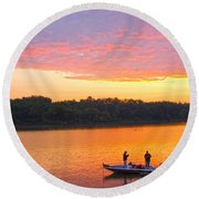 Fishing For Gold Round Beach Towel