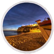 Fishing Night Off Round Beach Towel
