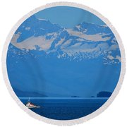 Fishing The Inside Passage Round Beach Towel