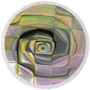 Fit Into The Box Round Beach Towel by Deborah Benoit