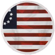 Flag - Constitution Round Beach Towel