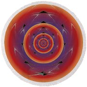 Flight Of The Firefly Round Beach Towel