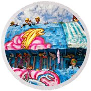 Floating Thru Mardi Gras Round Beach Towel by Steve Harrington
