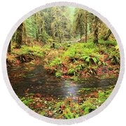 Flood In The Forest Round Beach Towel