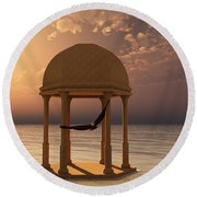 Flooded Dreams Round Beach Towel