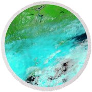 Floods In Jiangxi Province, China Round Beach Towel by Nasa