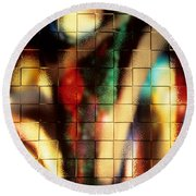 Floral Abstract II Round Beach Towel