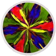 Floral Abstraction 090312 Round Beach Towel