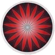 Floral Geometric 102311a Round Beach Towel