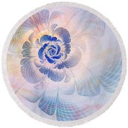 Floral Impression Round Beach Towel