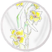 Floral Paintings 2 Round Beach Towel