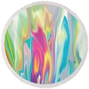 Floral Quest Round Beach Towel