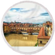 Florence Bridges II Round Beach Towel