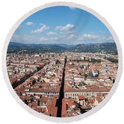 Florence From The Duomo Round Beach Towel