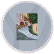 Florence Italy Apartments Round Beach Towel