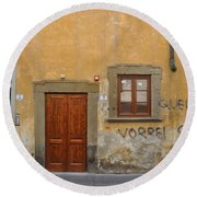 Florence Streetscape Round Beach Towel